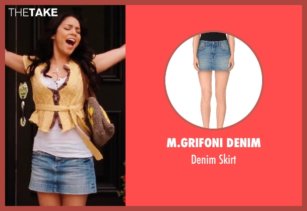 M.Grifoni Denim blue skirt from High School Musical 3: Senior Year seen with Vanessa Hudgens (Gabriella Montez)