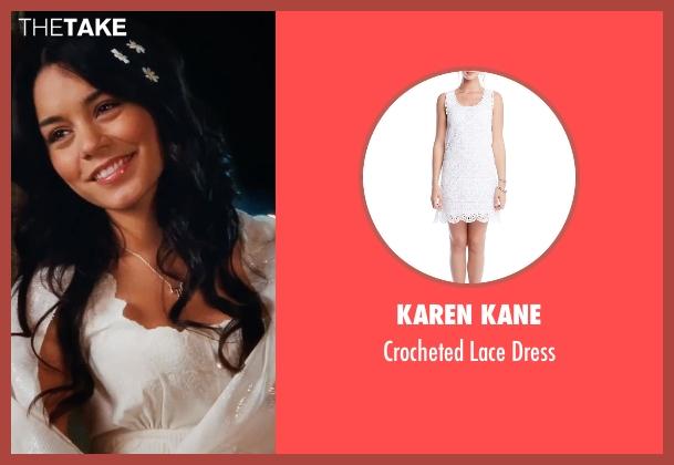 Karen Kane white dress from High School Musical 3: Senior Year seen with Vanessa Hudgens (Gabriella Montez)