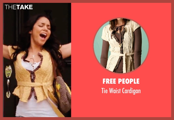 Free People yellow cardigan from High School Musical 3: Senior Year seen with Vanessa Hudgens (Gabriella Montez)