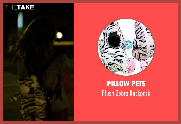 Pillow Pets white backpack from Spring Breakers seen with Vanessa Hudgens (Candy)