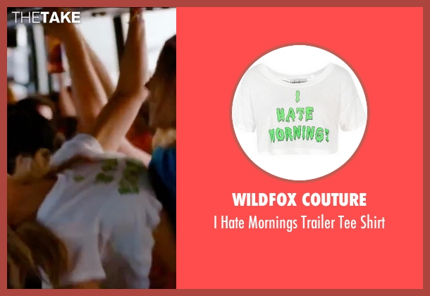 Wildfox Couture white shirt from Spring Breakers seen with Vanessa Hudgens (Candy)