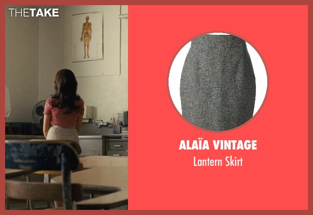 Alaïa Vintage gray skirt from McFarland, USA seen with Vanessa Martinez (Maria Marisol)