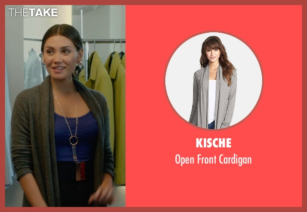 Kische gray cardigan from What If seen with Vanessa Matsui (Saleswoman)