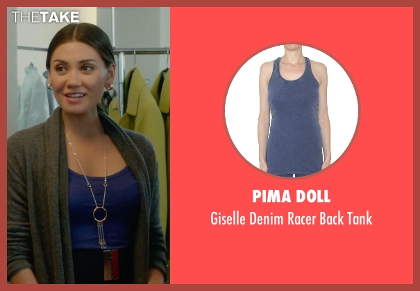 Pima Doll purple tank from What If seen with Vanessa Matsui (Saleswoman)