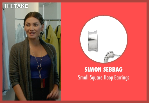 Simon Sebbag silver earrings from What If seen with Vanessa Matsui (Saleswoman)