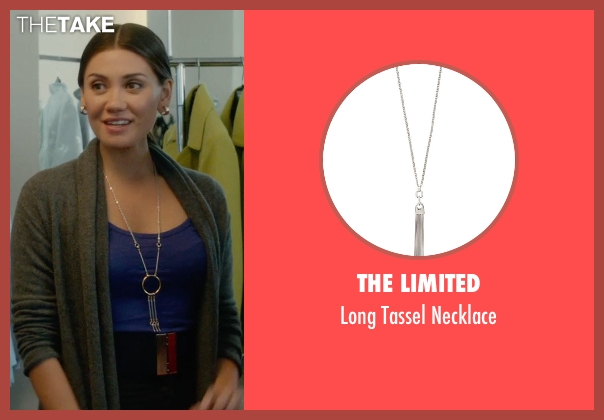 The Limited silver necklace from What If seen with Vanessa Matsui (Saleswoman)