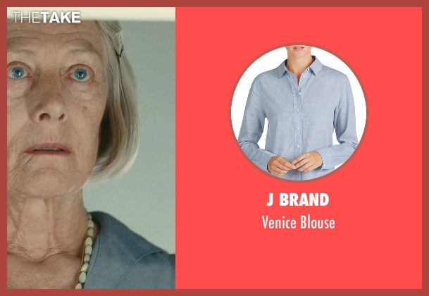 J Brand blue blouse from Atonement seen with Vanessa Redgrave (Older Briony)