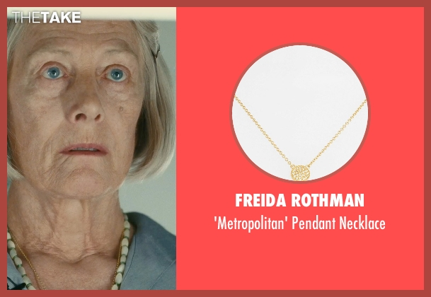 Freida Rothman gold necklace from Atonement seen with Vanessa Redgrave (Older Briony)