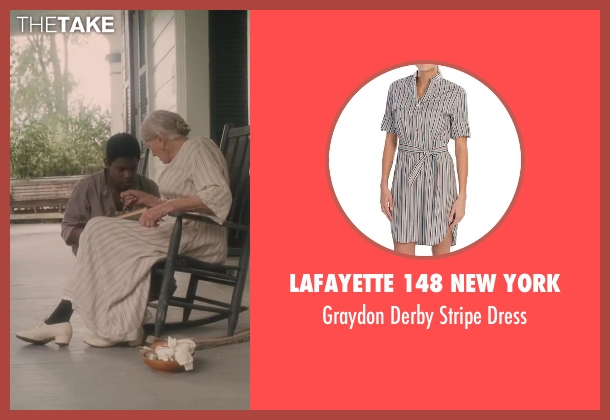 Lafayette 148 New York white dress from Lee Daniels' The Butler seen with Vanessa Redgrave (Annabeth Westfall)