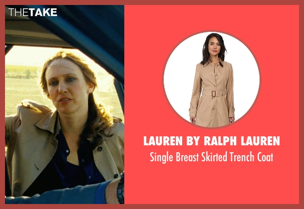 Lauren By Ralph Lauren beige coat from Safe House seen with Vera Farmiga (Catherine Linklater)