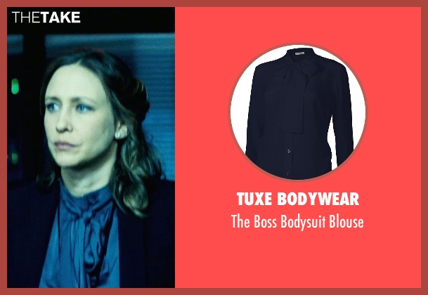 Tuxe Bodywear blue blouse from Safe House seen with Vera Farmiga (Catherine Linklater)