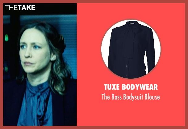 Tuxe Bodywear blue blouse from Safe House seen with Vera Farmiga (Catherine Linklater)