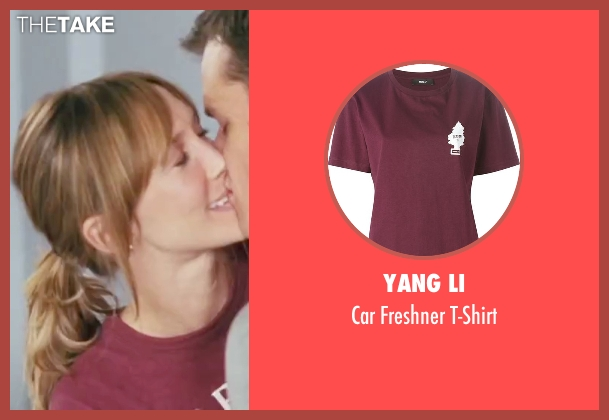 Yang Li red t-shirt from The Departed seen with Vera Farmiga (Madolyn)