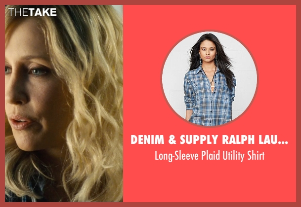 Denim & Supply Ralph Lauren blue shirt from The Judge seen with Vera Farmiga (Samantha)