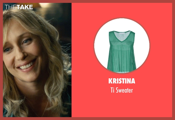 Kristina green sweater from The Judge seen with Vera Farmiga (Samantha)