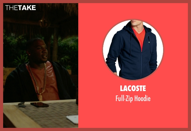 Lacoste black hoodie from Ballers seen with Vernon (Donovan W. Carter)