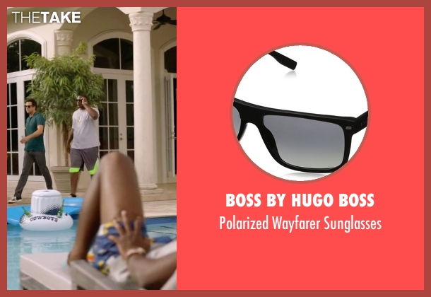 Boss By Hugo Boss black sunglasses from Ballers seen with Vernon (Donovan W. Carter)