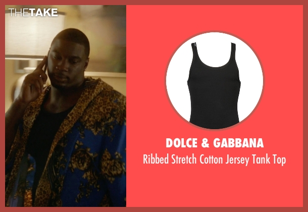 Dolce & Gabbana black top from Ballers seen with Vernon (Donovan W. Carter)