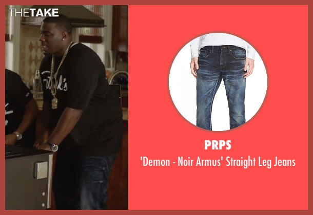 PRPS blue jeans from Ballers seen with Vernon (Donovan W. Carter)