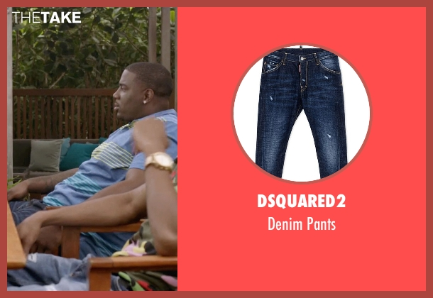 Dsquared2 blue pants from Ballers seen with Vernon (Donovan W. Carter)