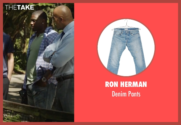 Ron Herman blue pants from Ballers seen with Vernon (Donovan W. Carter)