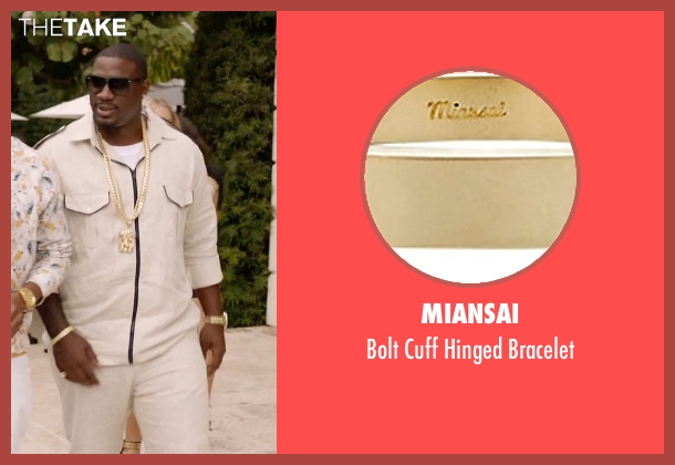 Miansai gold bracelet from Ballers seen with Vernon (Donovan W. Carter)