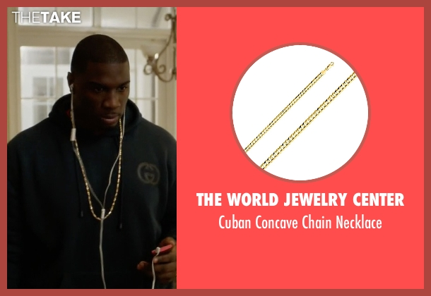 The World Jewelry Center gold necklace from Ballers seen with Vernon (Donovan W. Carter)