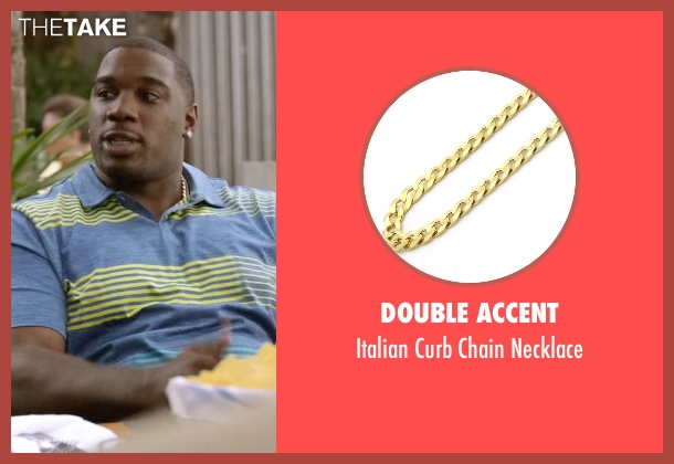 Double Accent gold necklace from Ballers seen with Vernon (Donovan W. Carter)