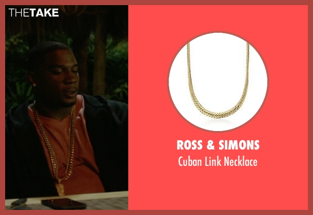 Ross & Simons gold necklace from Ballers seen with Vernon (Donovan W. Carter)