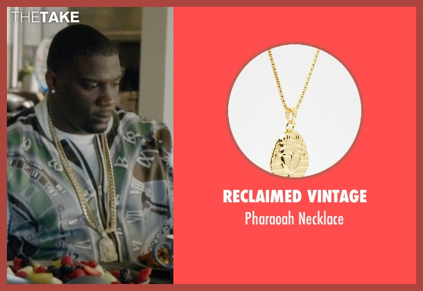 Reclaimed Vintage gold necklace from Ballers seen with Vernon (Donovan W. Carter)