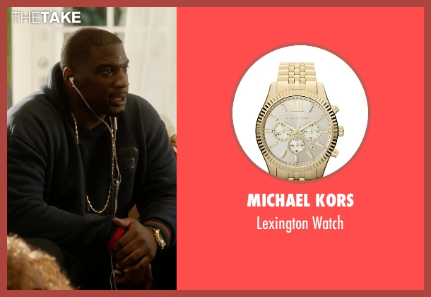 Michael Kors gold watch from Ballers seen with Vernon (Donovan W. Carter)
