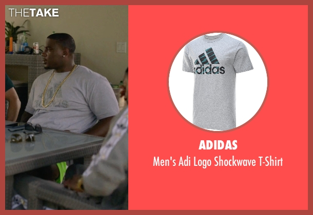 Adidas gray t-shirt from Ballers seen with Vernon (Donovan W. Carter)