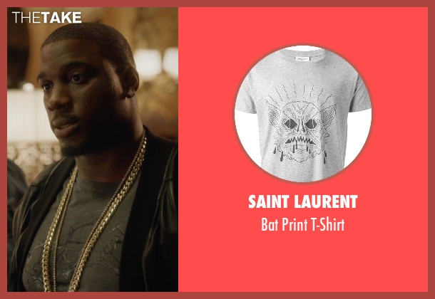 Saint Laurent gray t-shirt from Ballers seen with Vernon (Donovan W. Carter)
