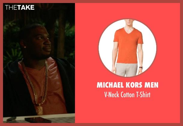 Michael Kors Men orange t-shirt from Ballers seen with Vernon (Donovan W. Carter)