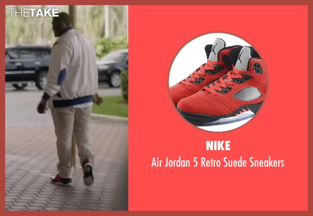 Nike red sneakers from Ballers seen with Vernon (Donovan W. Carter)