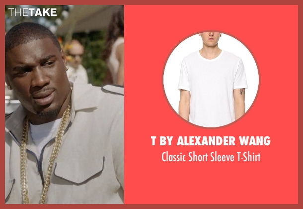 T By Alexander Wang white t-shirt from Ballers seen with Vernon (Donovan W. Carter)