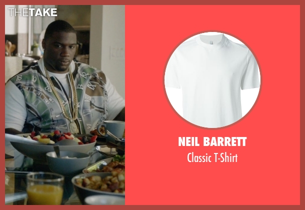 Neil Barrett white t-shirt from Ballers seen with Vernon (Donovan W. Carter)