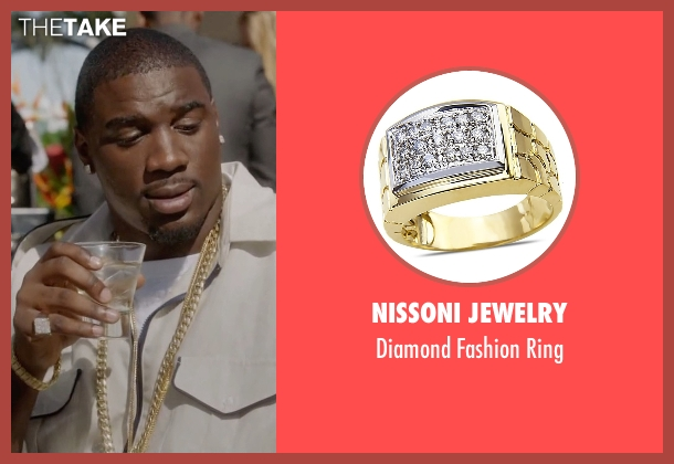 Nissoni Jewelry yellow ring from Ballers seen with Vernon (Donovan W. Carter)