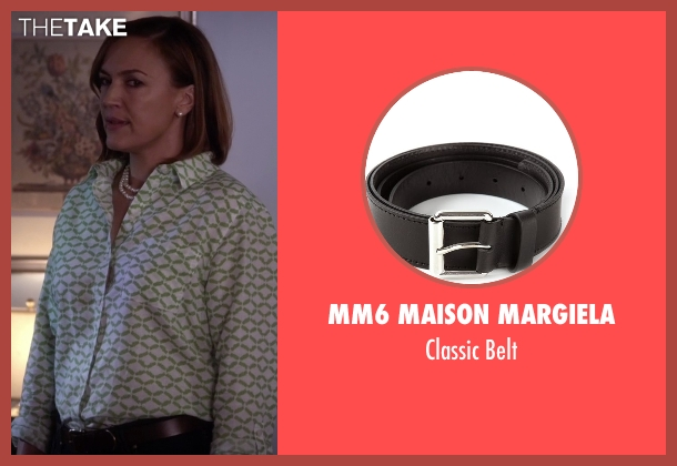 MM6 Maison Margiela black belt from Pretty Little Liars seen with Veronica Hastings (Lesley Fera)