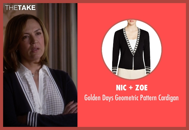 Nic + Zoe black cardigan from Pretty Little Liars seen with Veronica Hastings (Lesley Fera)