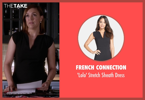 French Connection black dress from Pretty Little Liars seen with Veronica Hastings (Lesley Fera)