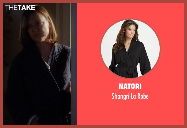 Natori black robe from Pretty Little Liars seen with Veronica Hastings (Lesley Fera)
