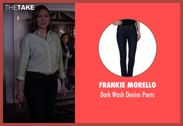 Frankie Morello blue pants from Pretty Little Liars seen with Veronica Hastings (Lesley Fera)
