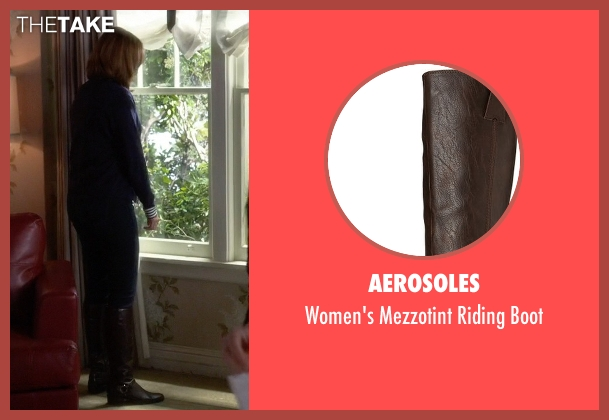 Aerosoles brown boot from Pretty Little Liars seen with Veronica Hastings (Lesley Fera)