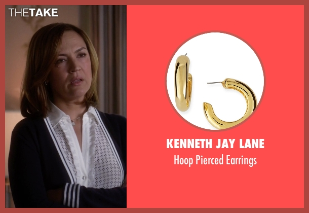Kenneth Jay Lane	 gold earrings from Pretty Little Liars seen with Veronica Hastings (Lesley Fera)
