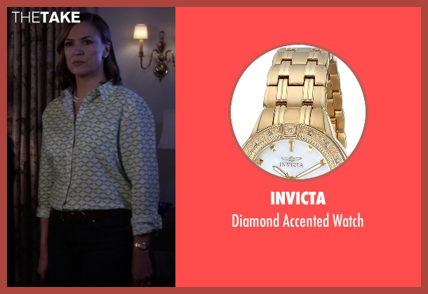 Invicta gold watch from Pretty Little Liars seen with Veronica Hastings (Lesley Fera)