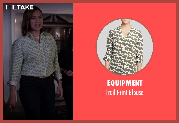 Equipment green blouse from Pretty Little Liars seen with Veronica Hastings (Lesley Fera)