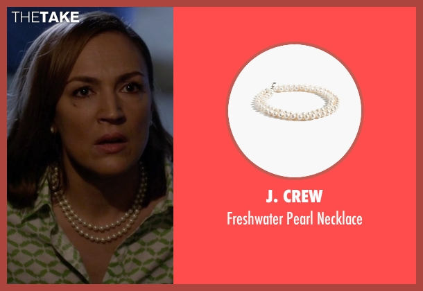 J. Crew white necklace from Pretty Little Liars seen with Veronica Hastings (Lesley Fera)