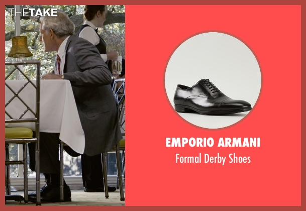 Emporio Armani black shoes from Self/Less seen with Victor Garber (Martin)