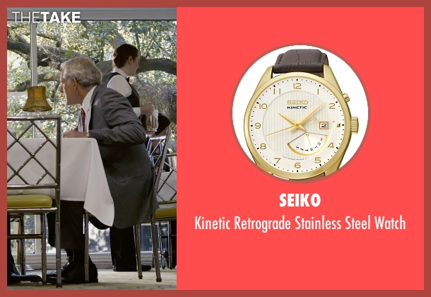 Seiko brown watch from Self/Less seen with Victor Garber (Martin)